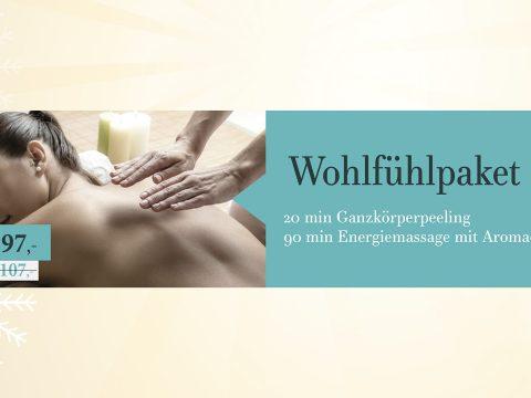 Wohlfühlpaket II mit Ganzkörperpeeling und Energiemassage mit Aromaölen im Schilling Therapiezentrum, Stallhofen, Voitsberg, Graz, gültig bis 24.12.2018